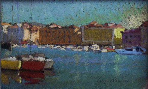 Marseille, quai de Rive Neuve, Vieux Port. pastel