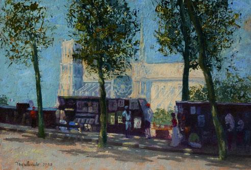 Notre-Dame de Paris. huile sur carton 48x33
