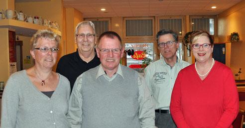 Das Bild kann frei verwendet werden. Von links nach rechts: Kirsten Dahlke, Klaus Rieger, Ronald Dahlke, Christop Mühlenfeld, Sandra Nemak