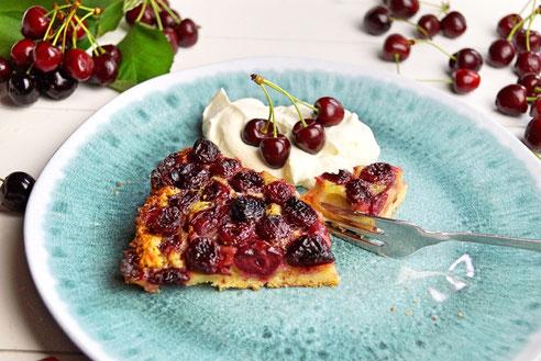 Kirschkuchen mit feiner Vanillenote