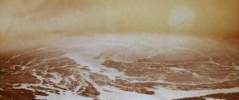 Protoplasmatisches Hirn-Meer oder doch bloß Wasser? Der Ozean als Projektionsfläche für Organisationsphantasien. Bild Ausschnitt aus dem Film Solaris von Andrei Tarkowski (1972)