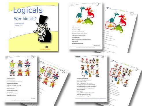 Logicals Deutsch Grundschule Leseförderung Material