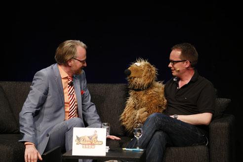 Adam Riese mit Wiwaldi und Martin Reinl in der Adam Riese Show am 29.5.2016 (Foto Tom Heyken)