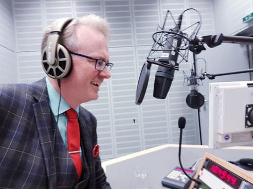 Adam Riese bei WDR 5 im August 2018 (Foto Adam Riese)