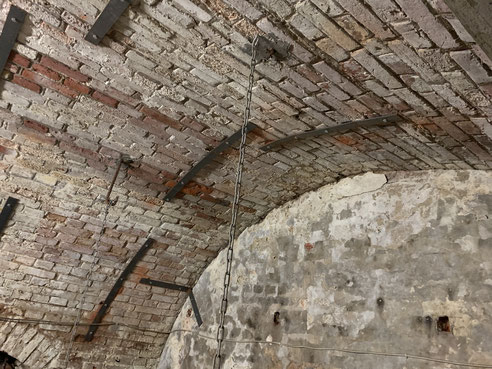 Das Gewölbe mit vermauerten hinterem Abschluss