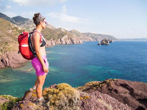 Tolle Blicke auf das Meer und die Felsinseln