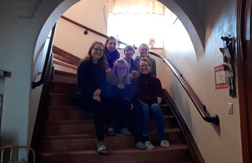 Friederike, Madeleine, Sofia, Anna, Pauline und Catalina (v.l.) in Vadstena