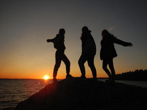 Solnedgång i Marieudd