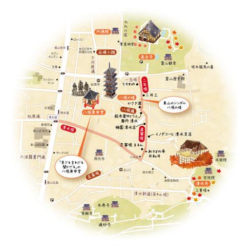京都イラストマップ