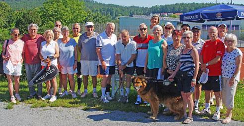 Die Hobby-Seniorenmannschaften TC-Ingersheim und TC-Freudental