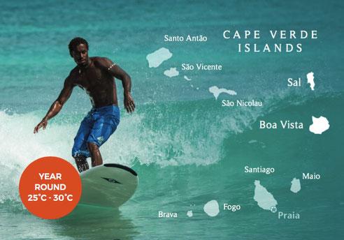 Map Kapverdische Inseln