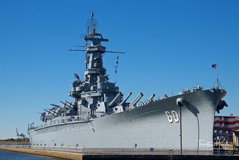 Meine Höhepunkte in Alabama - The Beautiful Das 1942 fertiggestellte Kriegsschiff USS Alabama im Battleship Memorial Parks in Mobile