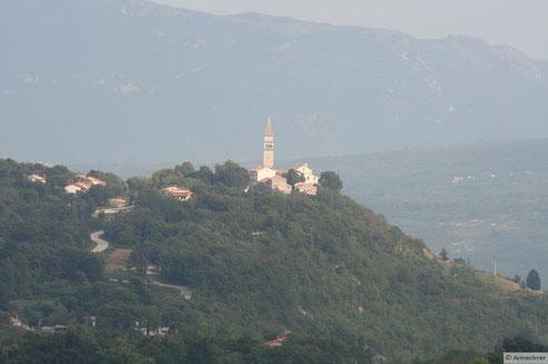 Bergdorf auf Istrien