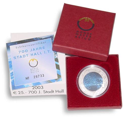 25 Euro Niob Münzen österreich Kurzbach Münzhandel