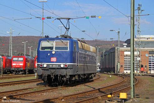 181 201 als TfzF(F) 77736 Saarbrücken Hbf - Karlsruhe Hbf (Sdl.), 27.02.2016