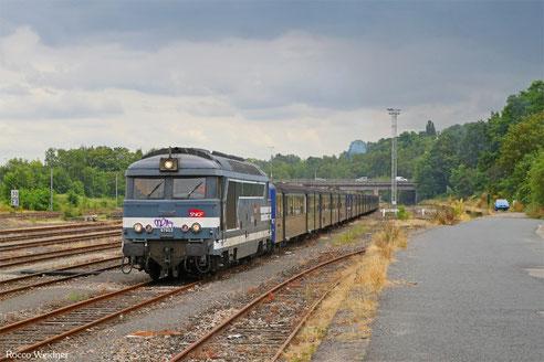 BB67603 mit 754782 Strasbourg-Ville - Sarreguemines BV (Sdl. Überführung 3x RRR-Garnituren), 28.07.2016