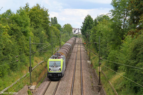 187 012 mit DGS 69532 Fulda Gbf - Völklingen (Sdl. leere SNCF-Shimmns), SB-Burbach 30.07.2016