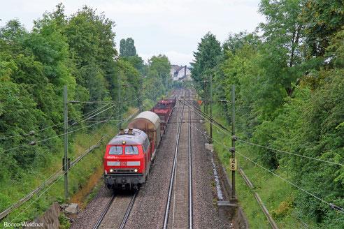 225 073 mit EZ 55922 Saarbrücken Rbf West - Dillingen Hochofen Hütte, Saarbrücken-Burbach 28.06.2016
