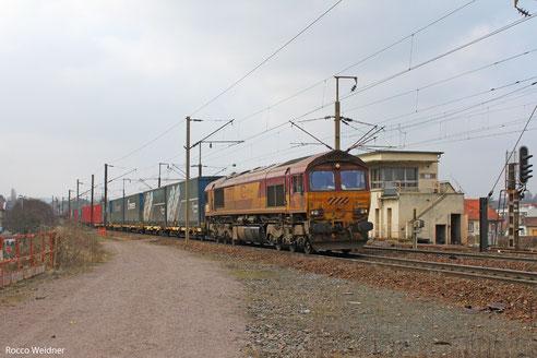 66 072 mit GA 49213 Cerbere/F - Mannheim Rbf Gr.M, Forbach/F  22.03.2013