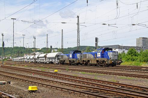 DT 4185 007 + 4185 006 mit DGS 98801 Völklingen - Horlecke (Sdl.), Koblenz-Mosel 29.06.2016