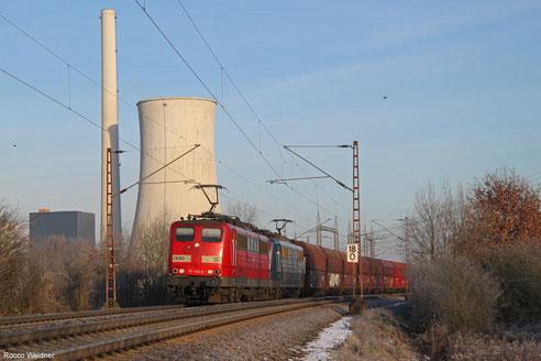 DT 151 014 + 151 ... mit GM 48745 Maasvlake Oost/NL - Fürstenhausen, Ensdorf 18.01.2016
