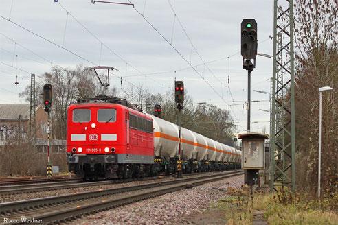 151 058 mit GC 98802 Forbach/F - Hüls AG (Sdl. Butadien), Luisenthal(Saar) 06.01.2017