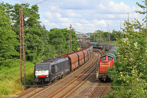 189 451 mit DGS 91115 Göttelborn - Duisburg-Ruhort Hafen, Dillingen(Saar) 29.06.2016