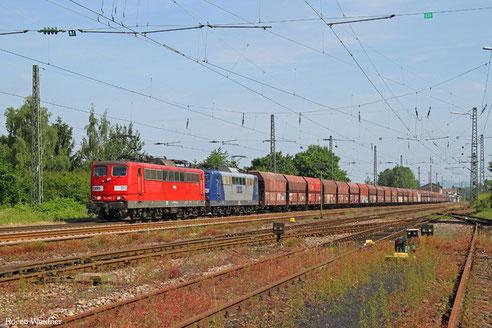DT 151 083 + 151 144 mit GM 48745 Maasvlakte Oost - Fürstenhausen, Ensdorf 10.06.2016