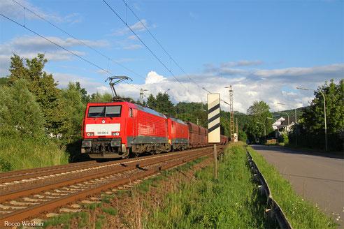 DT 189 065 + 189 043 mit GM 48716 Dillingen Hochofen Hütte  - Maasvlakte Oost , Merzig 15.06.2016