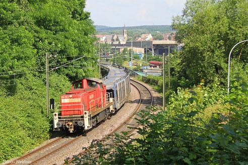 294 616 mit EK 55981 Fürstenhausen - Saarbrücken Rbf Nord, Saarbrücken 27.07.2016