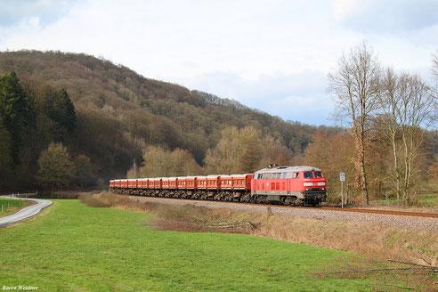225 073 mit EK 55909 Rammelsbach Steinbruch - Einsiedlerhof, Matzenbach 26.02.2016