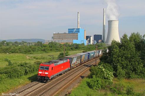 185 235 mit GA 62415 Dillingen(Saar) - Saarbrücken Rbf Nord (Sdl. Material), Ensdorf(Saar) 07.06.2016