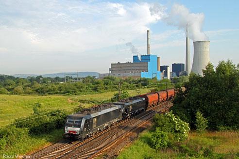 DT 189 803 + 189 159 mit DGS 91116 Duisburg-Ruhrort Hafen - Neunkirchen(Saar) Hbf , Ensdorf(Saar) 07.06.2016