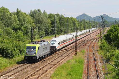 187 011 mit DGS 95293 Forbach/F - Düsseldorf-Rath (Sdl. Überführung 407 007 + 407 008 nach Rheinkamp), Bous 10.06.2016