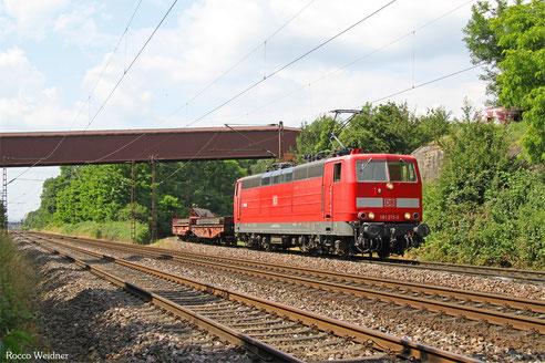 181 213 mit EK 55923 Dillingen Hochofen Hütte - Saarbrücken Rbf Nord, 24.06.2016
