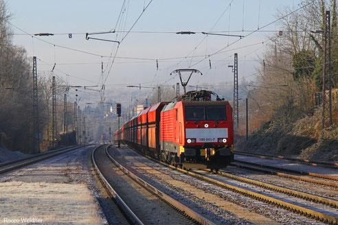 189 041 mit GM 48712 Dillingen Hochofen Hütte - Maasvlakte Oost/NL (Mosel-Umleiter), Dudweiler 28.12.2016
