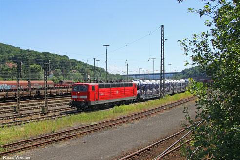 181 213 mit GA 98802 Forbach/F - Mannheim Rbf Gr.K (Sdl. Automotive, ex. 49257), Saarbrücken Rbf Nord 23.06.2016