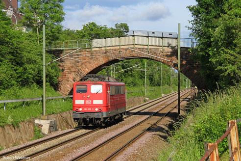 151 002 als T 67659 Saarbrücken Rbf Nord - Dillingen(Saar), Burbach 02.06.2016