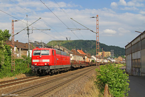 181 213 mit EZ 55922 Saarbrücken Rbf West - Dillingen Hochofen Hütte , Saarlouis 24.06.2016