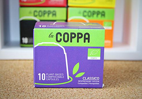 LaCoppa Classico - pflanzenbasierte, kompostierbare Kaffeekapseln