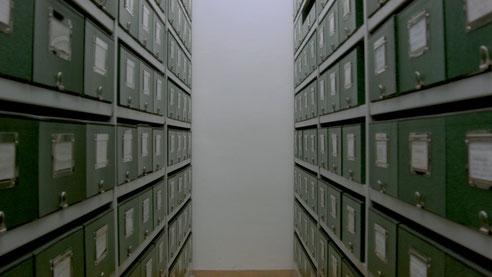 Archivaufnahme aus dem Kärntner Literaturarchiv in Klagenfurt