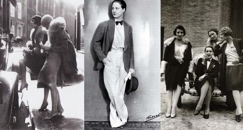 Androgyne Mode der 20er Jahre. Auch die Cool Cats aus Köln tragen gerne den Dandy Look. Allerdings sie sie auch der Haute Couture nicht abgeneigt.