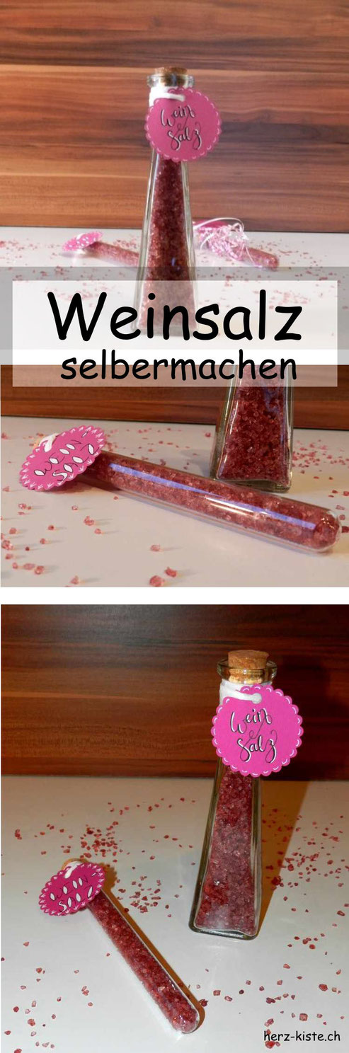 Rezept: Weinsalz selbermachen - Herz-Kiste