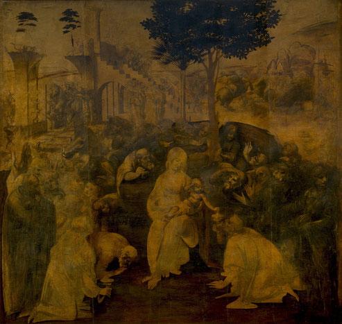 《東方三博士の礼拝》未完成。1481年