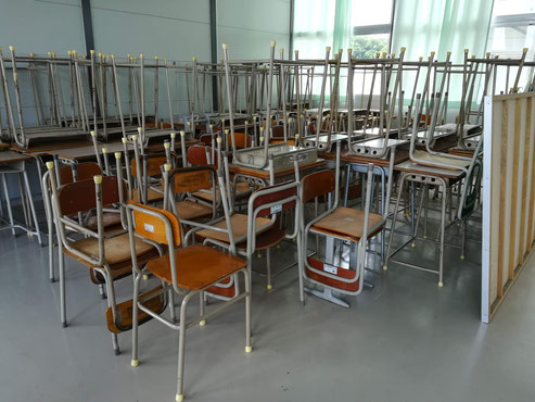 仮設学校のイメージ