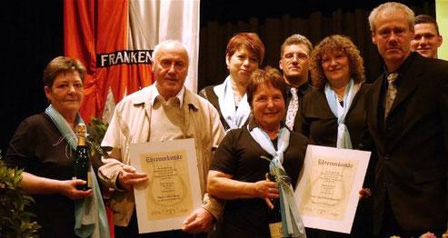 Neue Ehrenmitglieder - Willi Haag und Ingrid Landsgesell - 2017