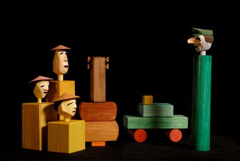 Die drei Chinesen mit dem Kontrabass - Figurentheater Raphael Mürle