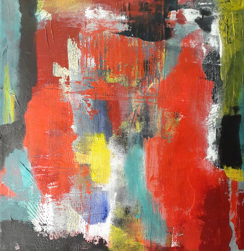 2020 C 107 | Abstractly Two - Acrylic on Canvas March 2020 12 x 12 inches | Sold