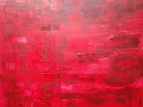 2020| C 2013 - Rojo Acrylic on Canvas August 2020 20 x 16 inches | Available