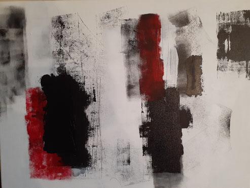 "2020 C 202 Umbra  Acrylic on Canvas 24"" H x 30"" W  | Sold"
